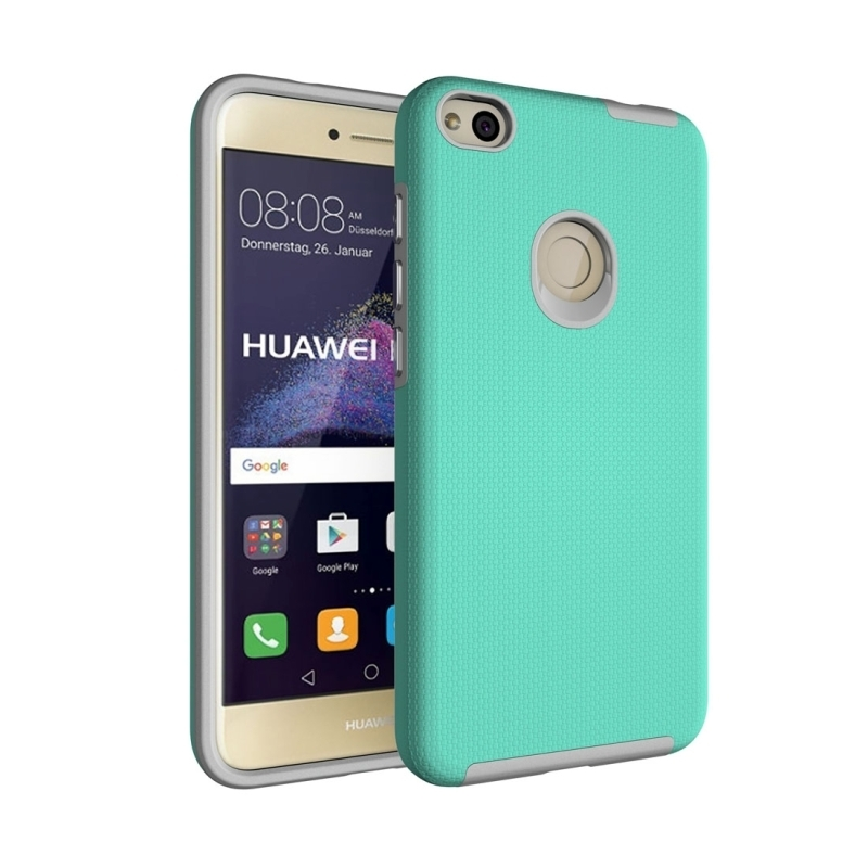 For Huawei P8 Lite (2017) Ball Texture Anti-slip PC + TPU Protective Back Cover Case (Green)