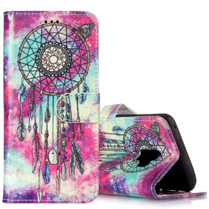 For Galaxy S9 Butterfly Wind Chimes Pattern Horizontal Flip Leather Case with Holder & Card Slots & Wallet