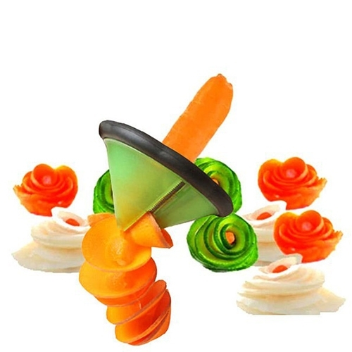 Creative Spiral Vegetable Slicer Kitchen Tool Fruit Vegetable Carving Tools Roll Flower
