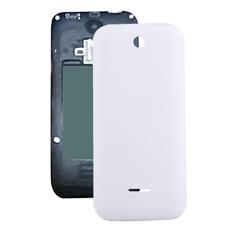 Solid Color Plastic Battery Back Cover for Nokia 225 (White)