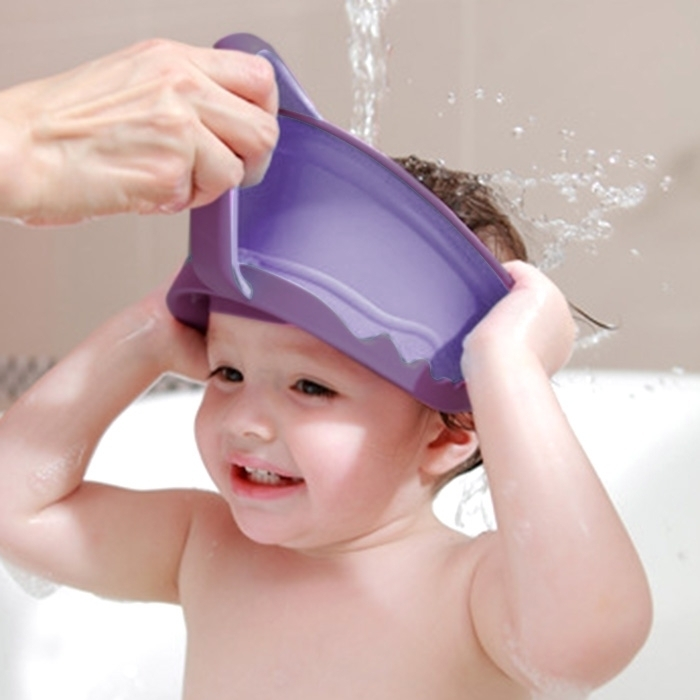 Cup Shaped Baby Children PP Shower Caps(Purple)