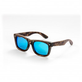 Mawaii sunglasses bamboo Waipuke brown blue