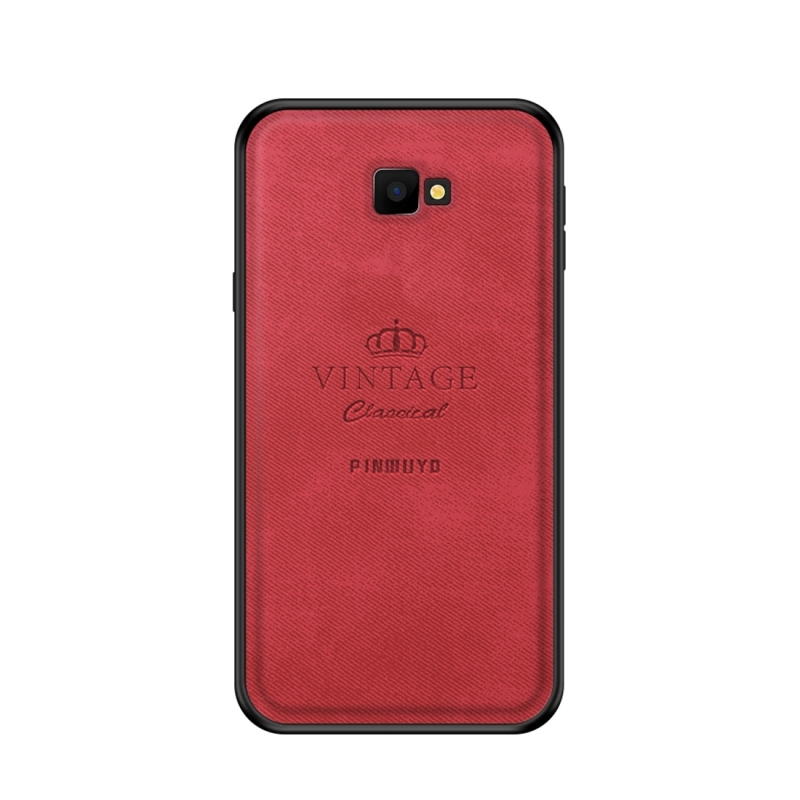 PINWUYO Shockproof Waterproof Full Coverage PC + TPU + Skin Protective Case for Galaxy J4 Plus (Red) (PINWUYO)
