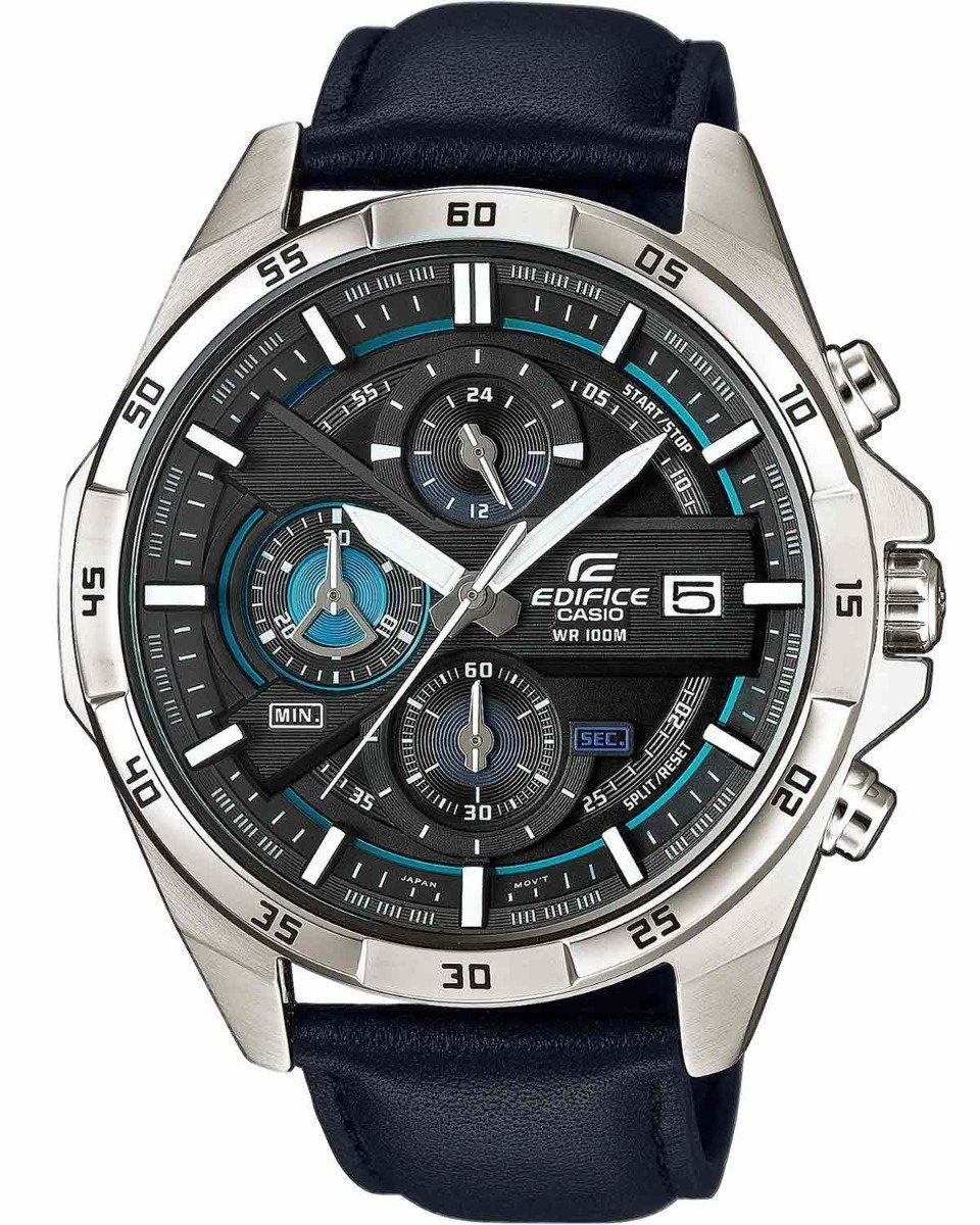 Casio EFR-556L-1AVUEF Edifice Chronograph Black Leather Strap