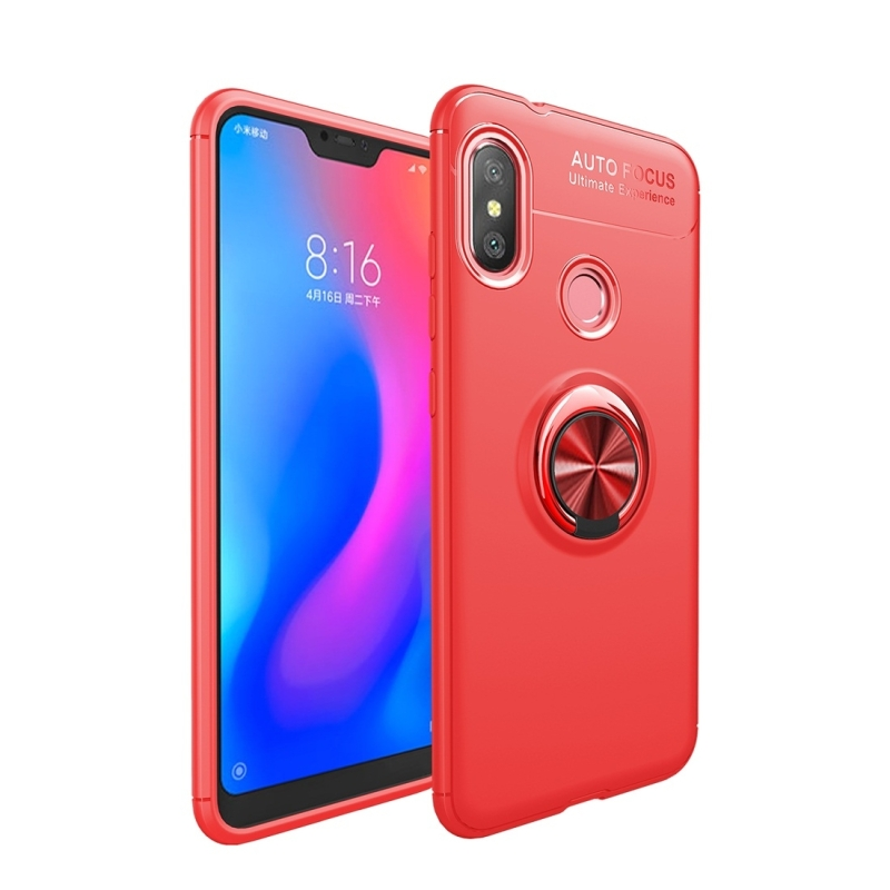 lenuo Shockproof TPU Protective Case for Xiaomi Mi Play, with Invisible Holder(Red) (lenuo)