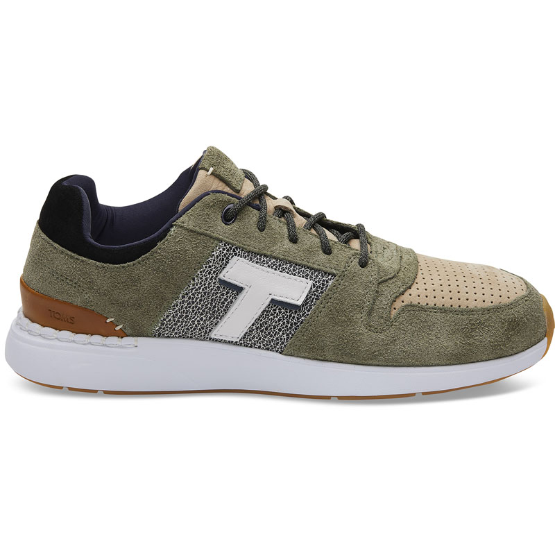 54e84f218ea TOMS Drizzle Suede Nubuck Ανδρικά Sneakers 10013222 - Λαδί