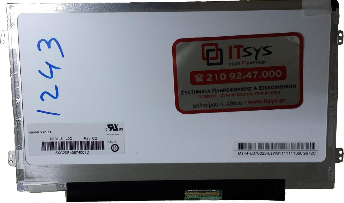 Οθόνη Laptop 10.1'' 1024x600 WSVGA LED 40pin Slim Laptop Screen Monitor (Κωδ. 1-1243)