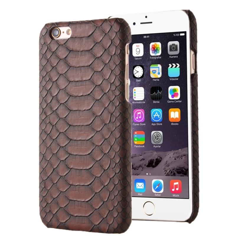Snakeskin Texture Hard Back Cover Protective Back Case for iPhone 5(Brown)