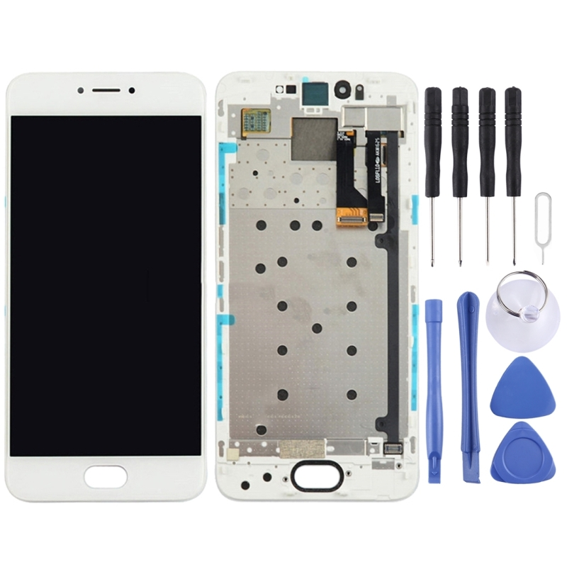 For Meizu Pro 6 LCD Screen and Digitizer Full Assembly with Frame(White)