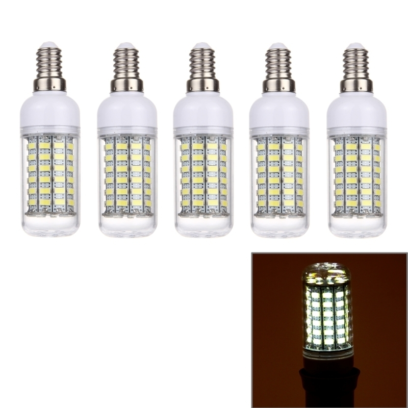 E14 5.5W LED Corn Light, 69 LEDs SMD 5730 Bulb, AC 220V