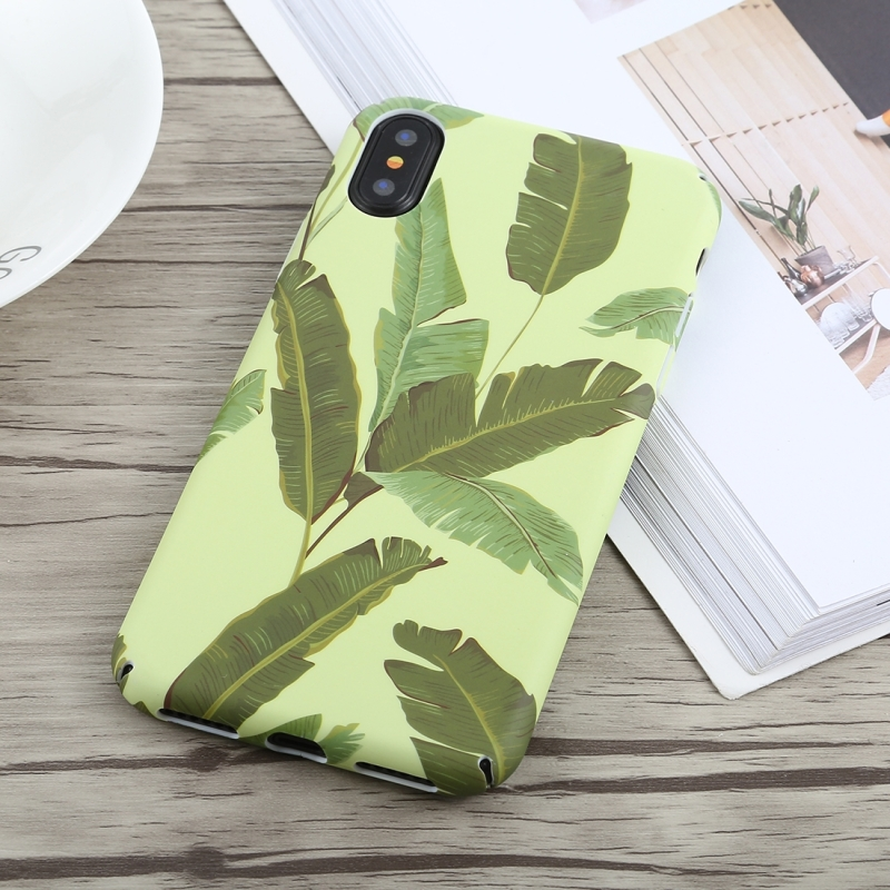Pattern Oil Painting Style PC Case for iPhone X