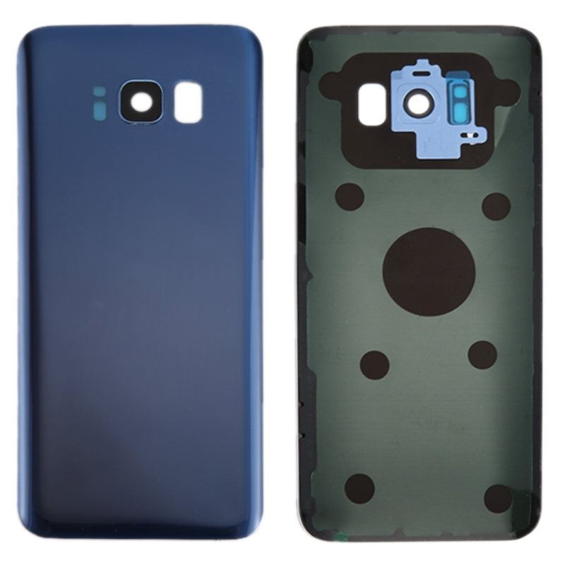 Battery Back Cover with Camera Lens Cover & Adhesive for Galaxy S8+ / G955(Blue)