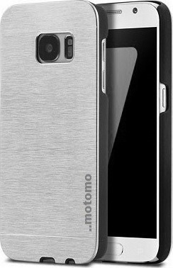 Samsung Galaxy S7 Aluminium Back Cover Case Ασημί (motomo)