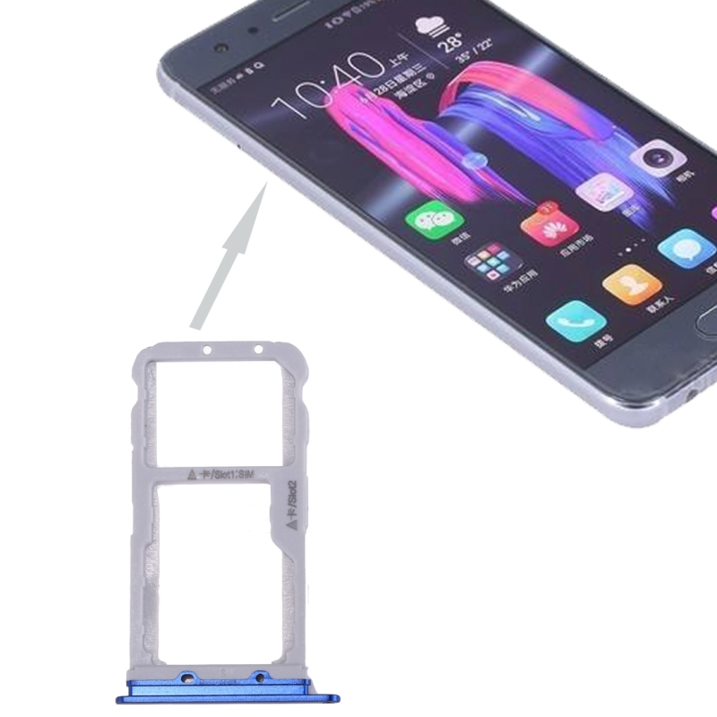 For Huawei Honor 9 SIM Card Tray & SIM / Micro SD Card Tray(Blue)