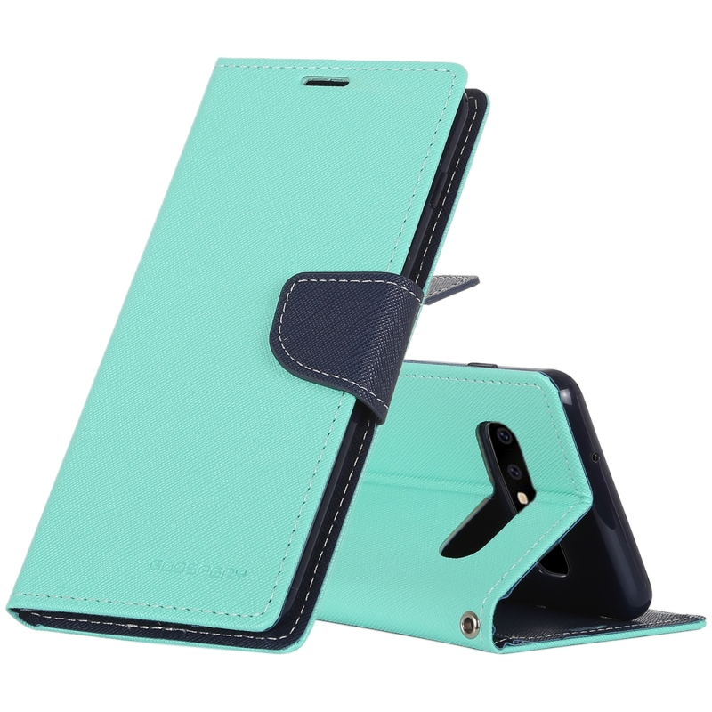 GOOSPERY FANCY DIARY Horizontal Flip PU Leather Case for Galaxy S10, with Holder & Card Slots & Wallet (Mint Green) (GOOSPERY)