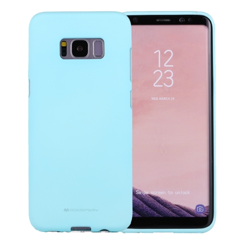 GOOSPERY SOFT FEELING for Galaxy S8 + / G955 Liquid State TPU Drop-proof Soft Protective Back Cover Case (Mint Green) (GOOSPERY)