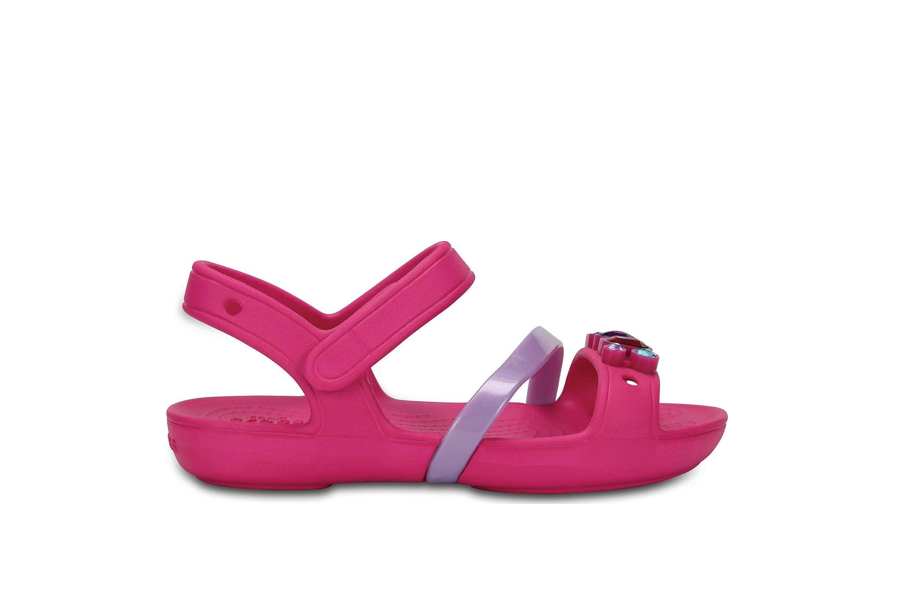 24a7572fef8 TOMS Pink Multi Twill Glimmer Tiny Shiloh Παιδικά πέδιλα 10011541 - Ρόζ