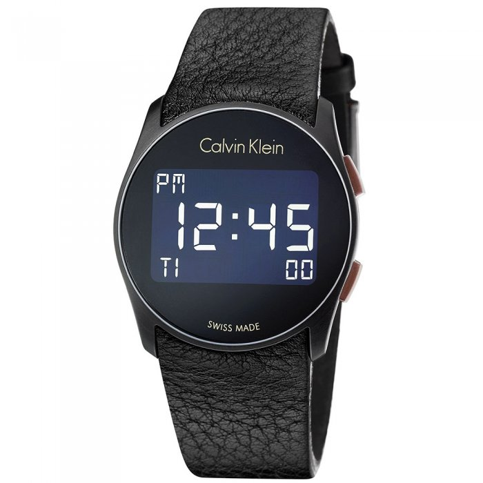 Ρολόι CALVIN KLEIN Future Touch Black Leather Strap K5B13XC1 99400ce19c9