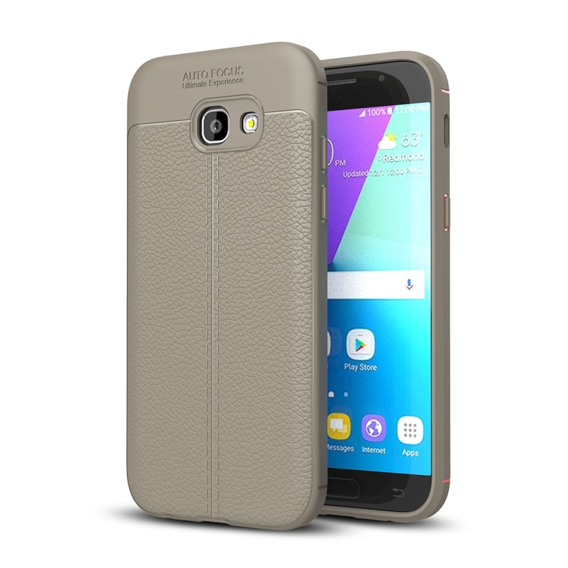 For Galaxy A3 (2017) / A320 Litchi Texture TPU Protective Case(Grey)