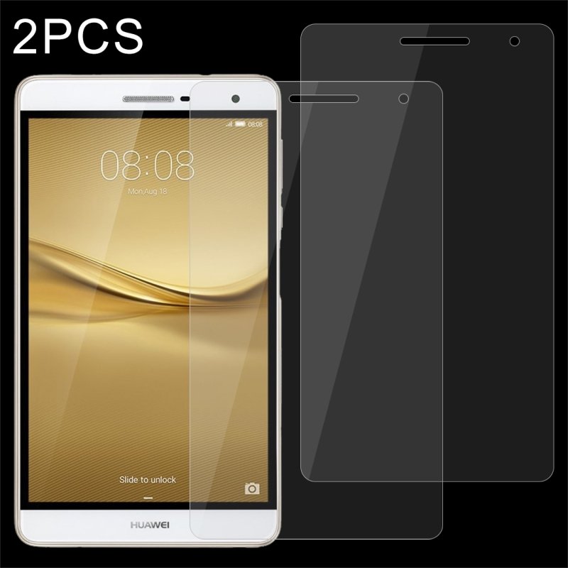 2 PCS HUAWEI MediaPad T2 7.0 Pro 0.4mm 9H Surface Hardness Full Screen Tempered Glass Screen Protector