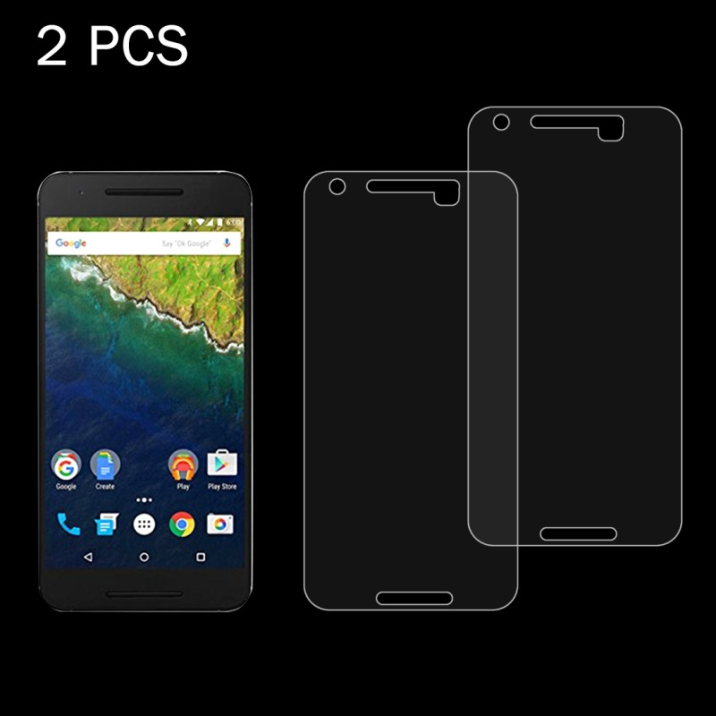 2 PCS for Google Nexus 6P 0.26mm 9H Surface Hardness 2.5D Explosion-proof Tempered Glass Screen Film