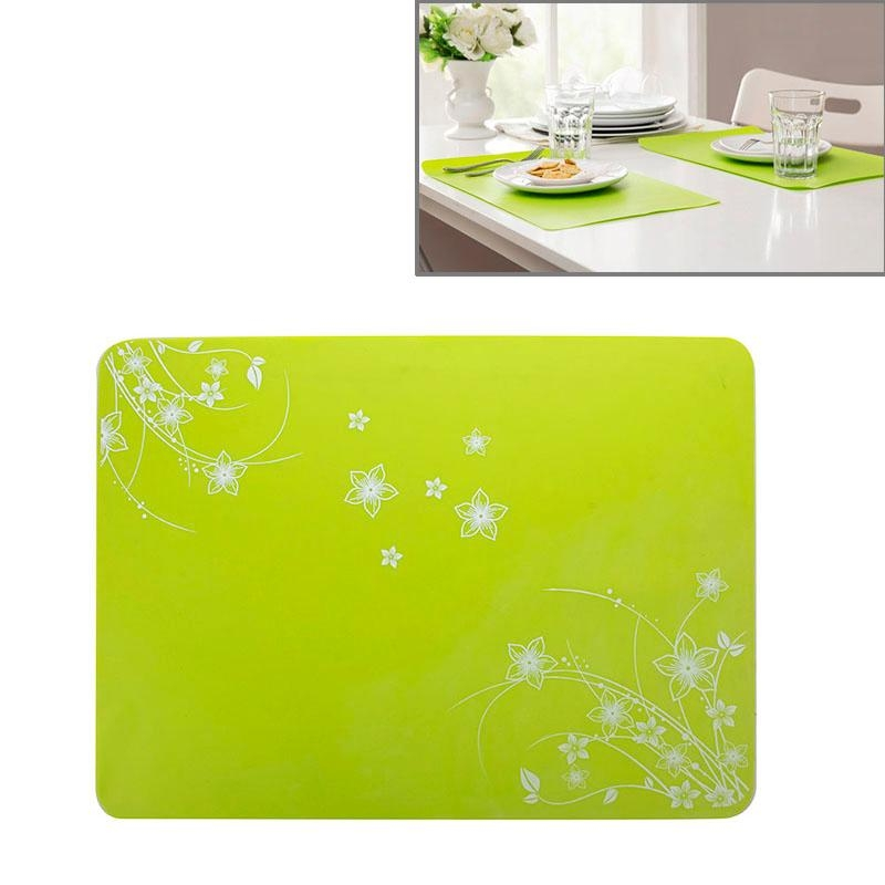 40x30cm Anti-skidding Silicone Heat Insulation Mat for Food Dish / Beverage / Oven / Kid Table(Green)