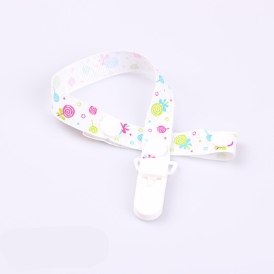 2 PCS Baby Pacifier Clip Pacifier Chain Dummy Clip Nipple Holder For Nipples Children Pacifier Clips Teether Anti-drop Rope(23 White lollipop)