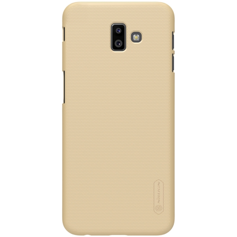 NILLKIN Frosted Concave-convex Texture PC Case for Galaxy J6+(Gold) (NILLKIN)