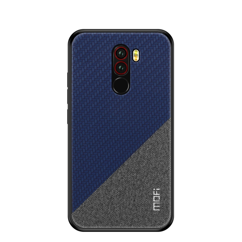 MOFI Honors Series Full Coverage TPU + PC + Cloth Pasted Case for Xiaomi Pocophone F1(Blue) (MOFI)