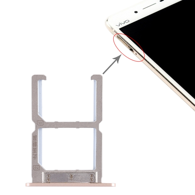 2 x SIM Card Tray for Vivo X6S(Gold)