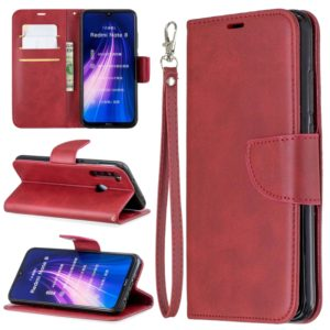 For Xiaomi Redmi Note 8 Retro Lambskin Texture Pure Color Horizontal Flip PU Leather Case with Holder & Card Slots & Wallet & Lanyard(Red)