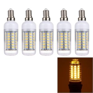 E14 5W LED Corn Light, 56 LEDs SMD 5730 Bulb, AC 220V