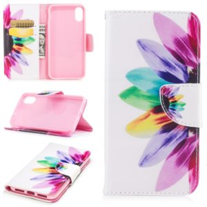 Colored Drawing Pattern Horizontal Flip Leather Case for Nokia 7.1,with Holder & Card Slots & Wallet(Sunflower)