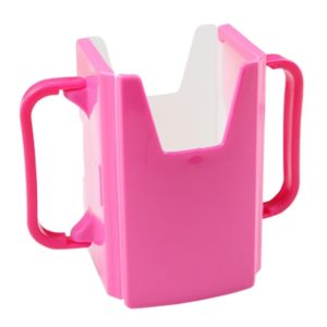 10 PCS Handle Boxed Anti-sprinkling Drink Holder Retractable Baby Learning Cup(Pink)