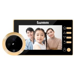 Danmini Q10 4.3 Inch Screen Motion Detection Camera Video Alarm Smart Digital Door Viewer, Support TF Card(Gold)