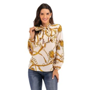 Fashion Personality Long-sleeved Shirts (Color:As Show Size:L)