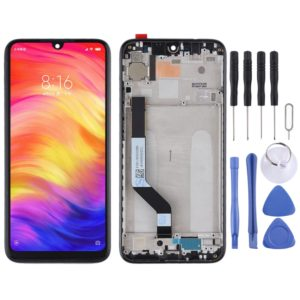 LCD Screen and Digitizer Full Assembly with Frame for Xiaomi Redmi Note 7 / Redmi Note 7 Pro(Black)