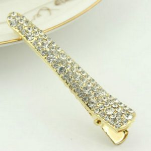 3 PCS Alloy Crystal Hairpins Barrettes Girls Elegant Hair Accessories(White diamond)