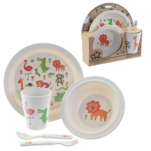 Bambootique Eco Friendly Zoo Design Picnic Set