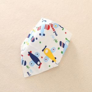 Cotton Bandana Bibs Baby Babador Feeding Smock Infant Burp Cloths Cartoon Saliva Towel Baby Eating Accessory Soft Baby Stuff, Size:One Size(8# Cartoon airplane)