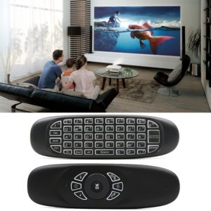 C120 Back-light Air Mouse 2.4GHz Wireless Keyboard 3D Gyroscope Sense Android Remote Controller for PC, Android TV Box / Smart TV, Game Devices