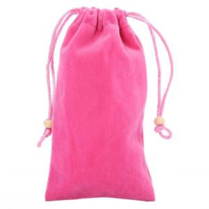 Universal Leisure Cotton Flock Cloth Carry Bag with Lanyard for iPhone 6 / Galaxy S6 / S5 / G900 / S IV / i9500 / SIII / i9300(Pink)