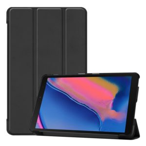 Custer Texture Horizontal Flip Leather Case for Galaxy Tab A 8.0 (2019) P205 / P200, with Three-folding Holder (Black)