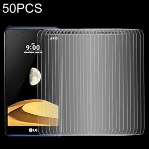 50 PCS 9H 2.5D Tempered Glass Film for LG X max