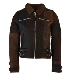 ALMA LIBRE Leather Jacket Tan Γυναικείο - Καφέ (ALMGLW-102-319)