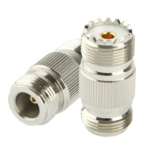 Coaxial RF N Female to UHF Female Adapter(Silver)