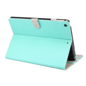 For iPad 10.2 (2019) ENKAY Stand Folio Cover Leather Smart Case with Auto Sleep / Wake-up Function(Cyan) (ENKAY)