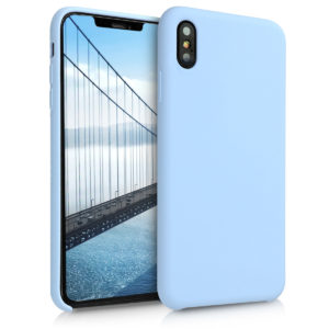 KW TPU Θήκη Σιλικόνης Apple iPhone XS Max - Soft Flexible Rubber Protective Cover - Light Blue (45909.58)