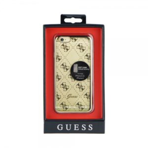 GUESS FACEPLATE IPHONE 6 gold trans backcover