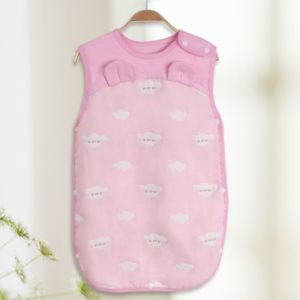 Spring Summer Cotton Soft And Airpermeability Sleeping Bag, Size:120/66(Pink Cloud)
